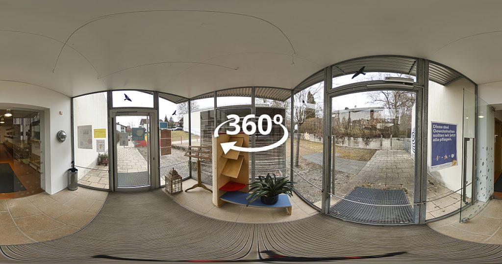 360 Grad Bild Eingang Kindergarten Aufkirchen